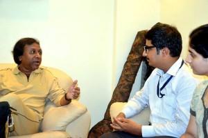 With Padmashri Shahid Parvez