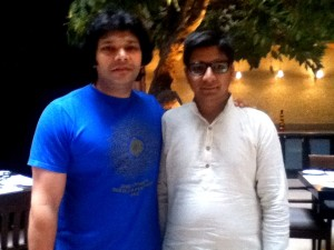 With our beloved friend, Rakesh Chaurasia